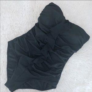 Jantzen Black Strapless One Piece Swim Suit 14
